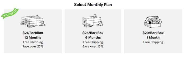 barkbox cost