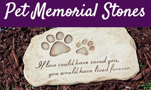 12 touching pet memorial stones in memory of pet tributes