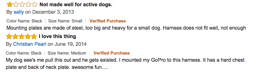 dog camera mount reviews