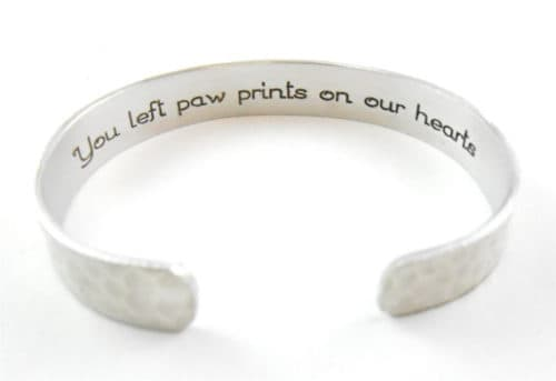 remembered memorial forever personalized pin always pet loved bracelet