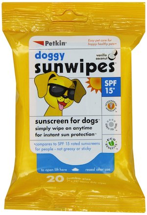 dog sunscreen wipes