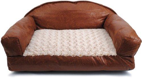 Dallas Faux Leather Sofa Dog Bed
