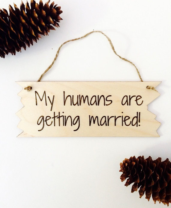 dog wedding sign