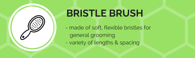 bristle brush grooming tool
