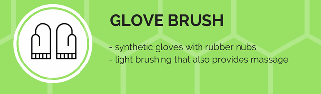 glove brush grooming tool