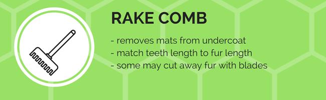 rake comb grooming tool