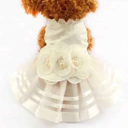 pretty in pearls dog dress