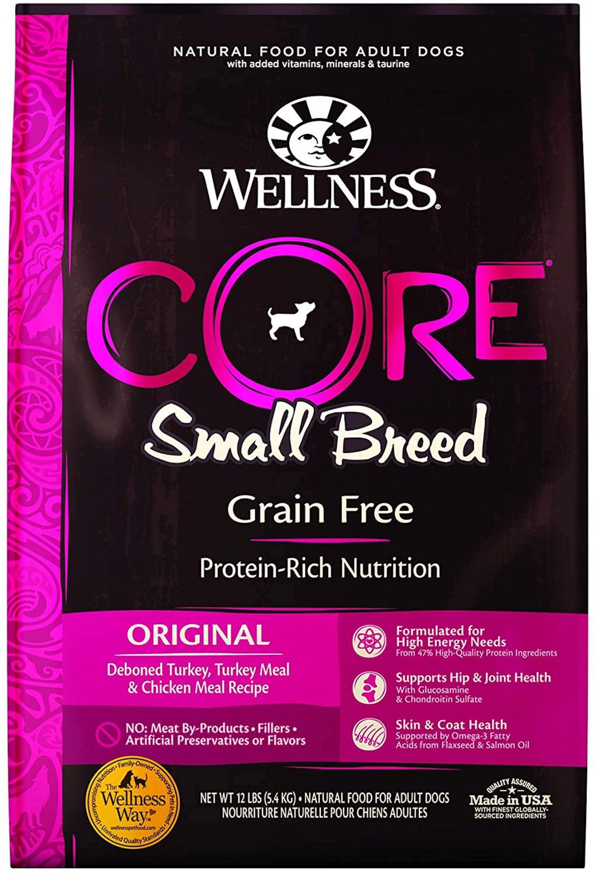 Wellness CORE Natural Grain Free Dry Dog Food Small Breed Recipe