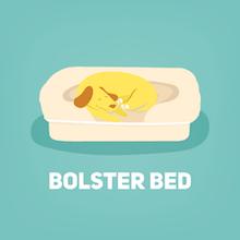 bolster dog bed small