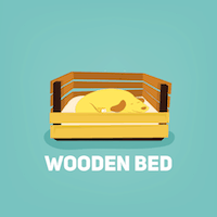 wooden bed small