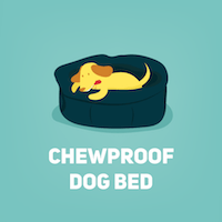 chewproof dog bed sm