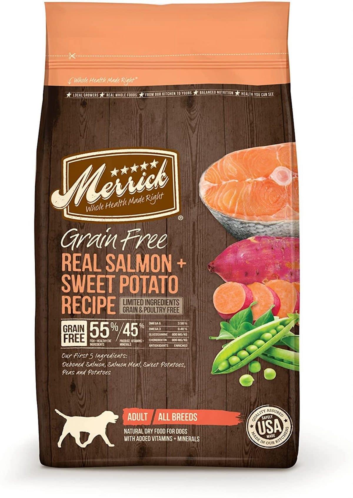 Merrick Grain Free With Salmon Dog Food
