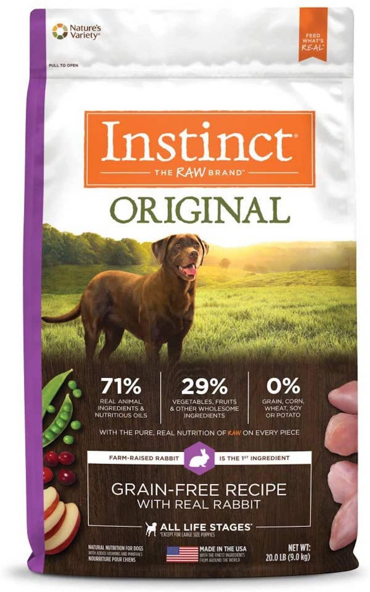 Nature's Variety Instinct Grain-Free Recipe with Real Rabbit