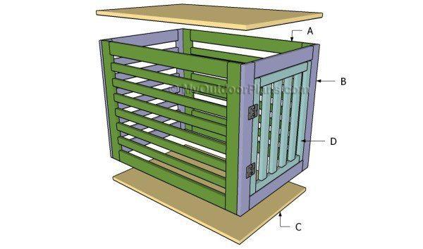Dog crate DIY 4