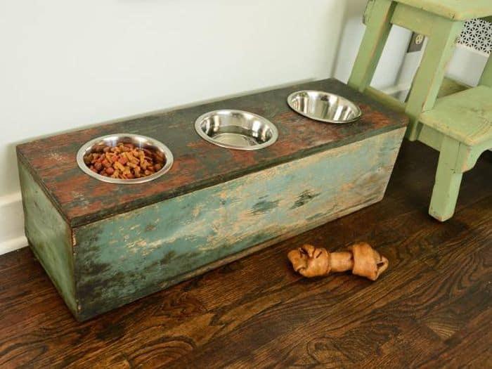 Dog Feeder Elevated DIY