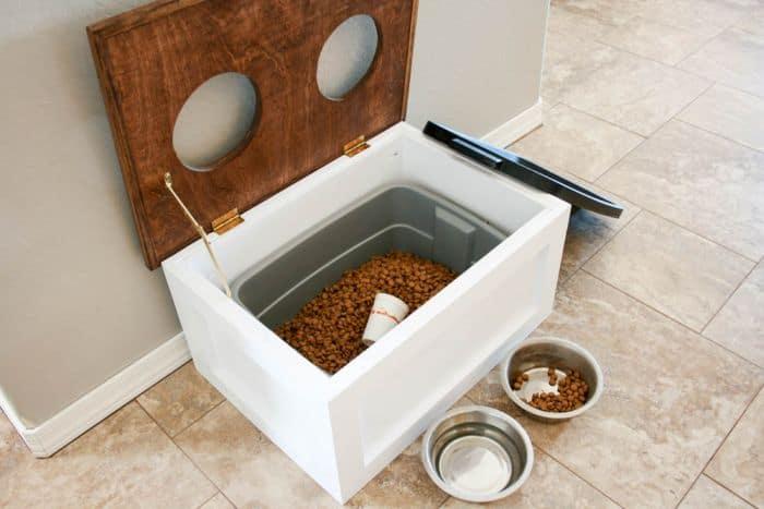 Dog Feeder with Storage Area