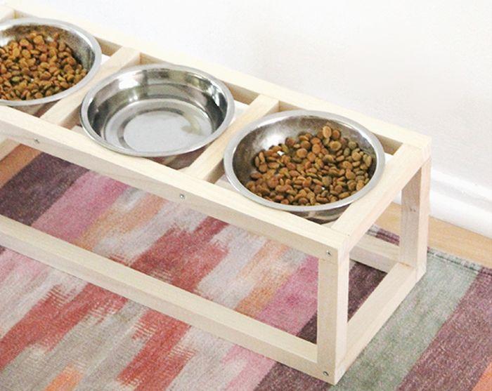 Modern DIY Dog Feeder