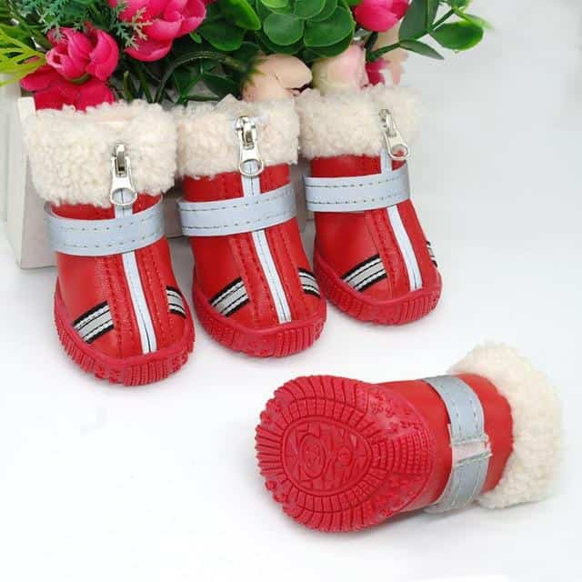 51a0f44b7d About  Think Of The Floof s Snowfall Adventure Dog Booties are winter boots  designed for small dogs