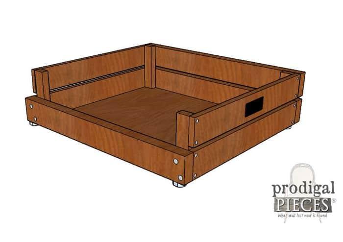 Wooden DIY Dog Bed