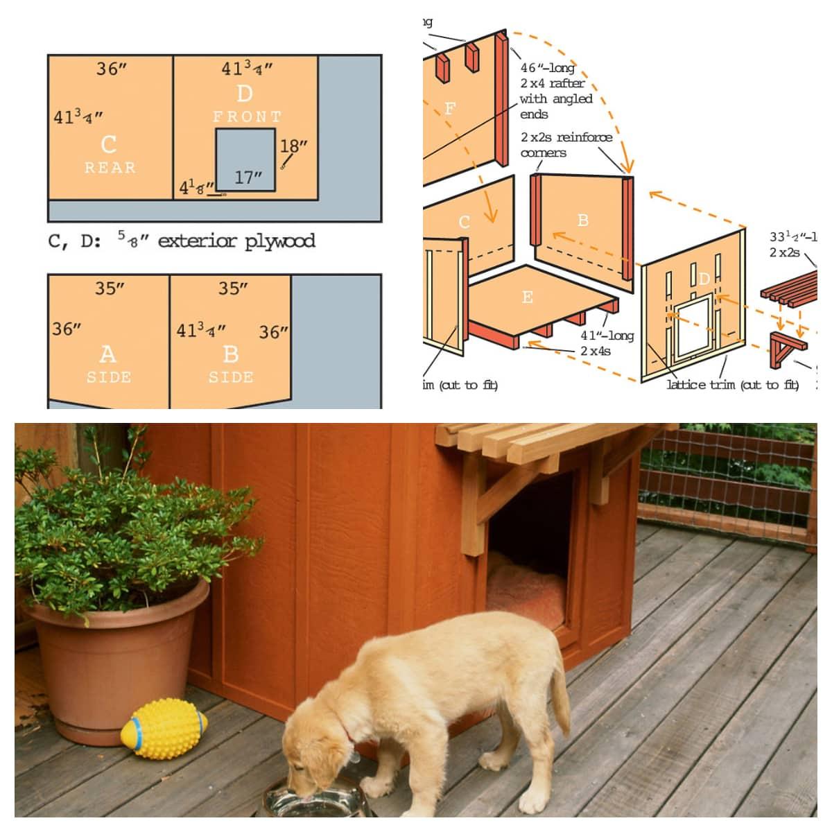 14 Diy Dog Houses How To Build A Dog House Plans Blueprints