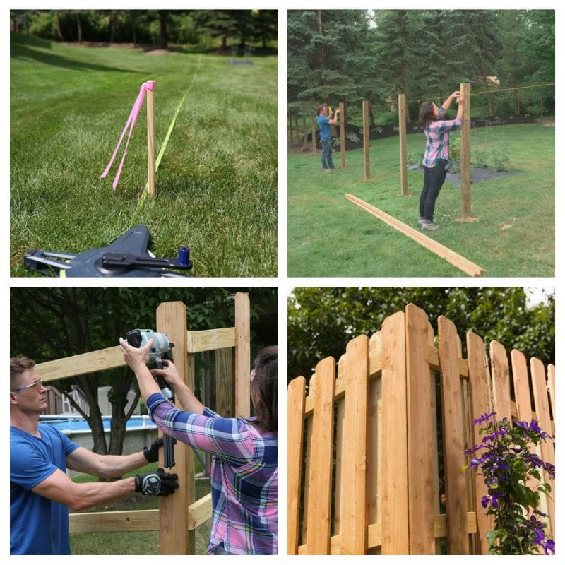 DIY wooden privacy fence