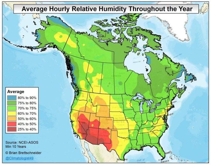 humidity map