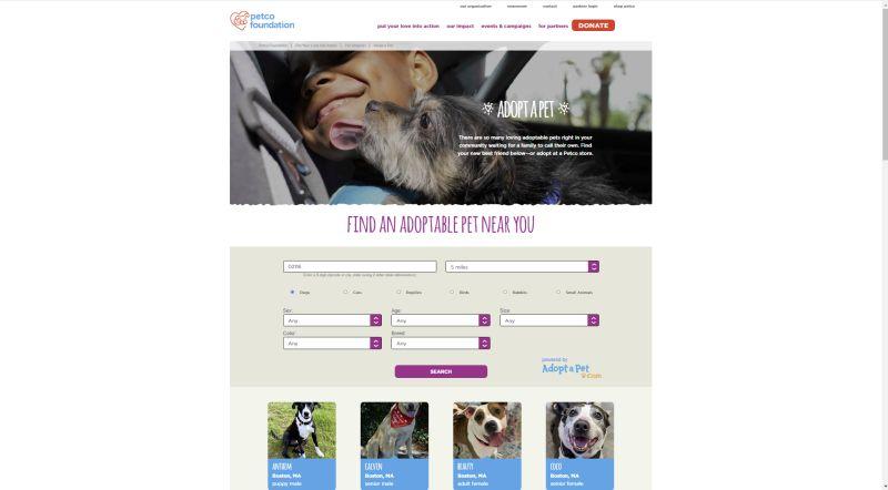 Petco dog adoption