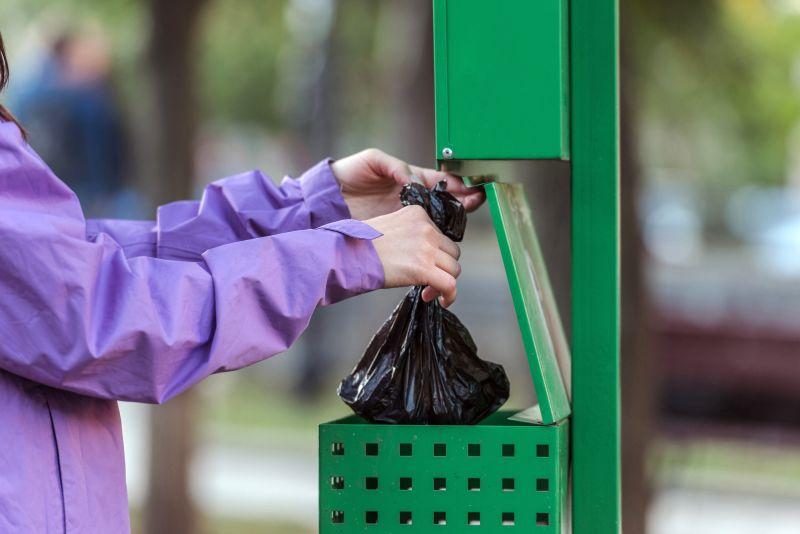 throw away dog poop