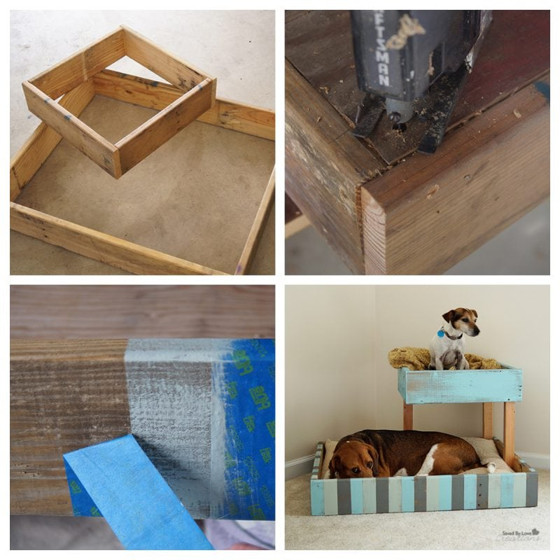 Homemade dog bed from pallets