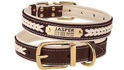 Braided Leather Dog Collar