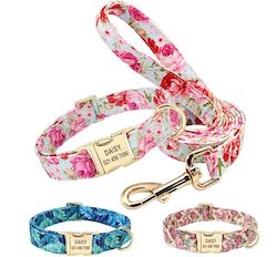 Personalized Floral Nylon Collar