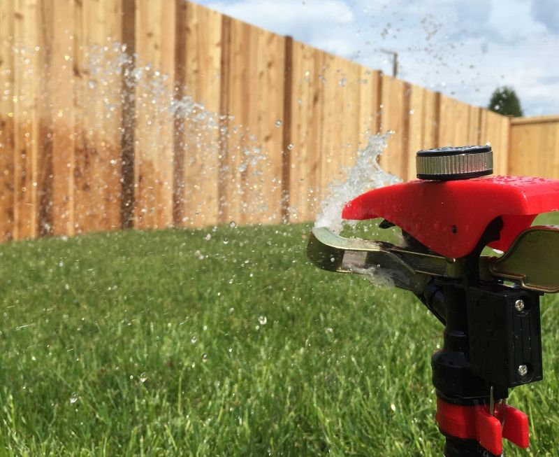 Use sprinklers to stop dog digging