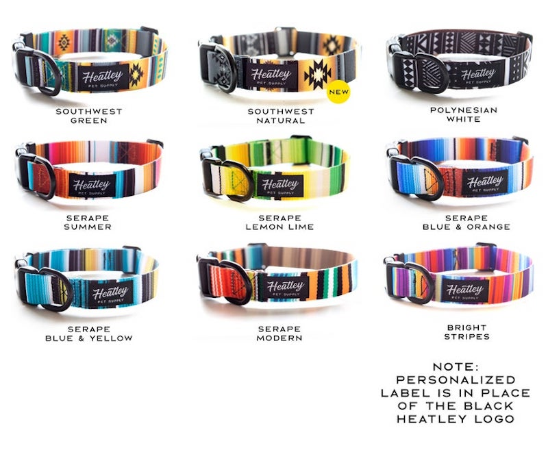 Personalized Tribal Pattern Dog Collar