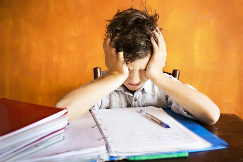 kid upset at school