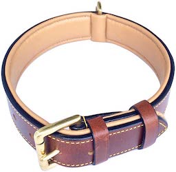 Soft Touch Leather Padded Collar