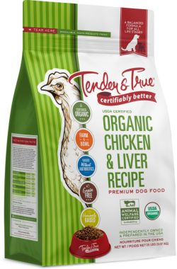 Tender and True is a sustainable dog food brand